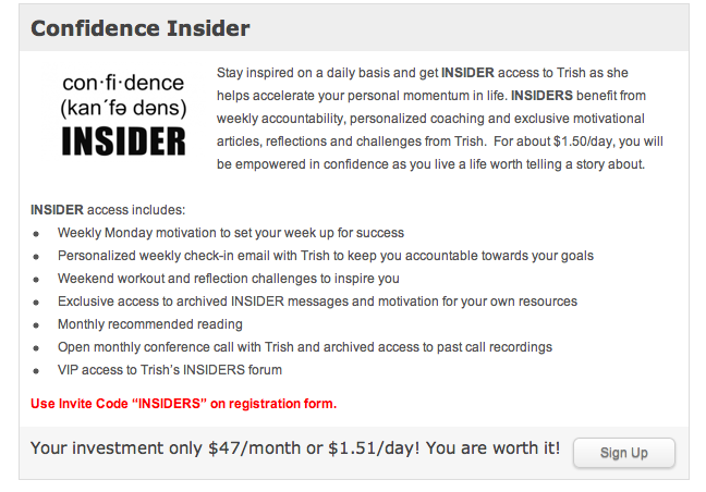Confidence INSIDER About