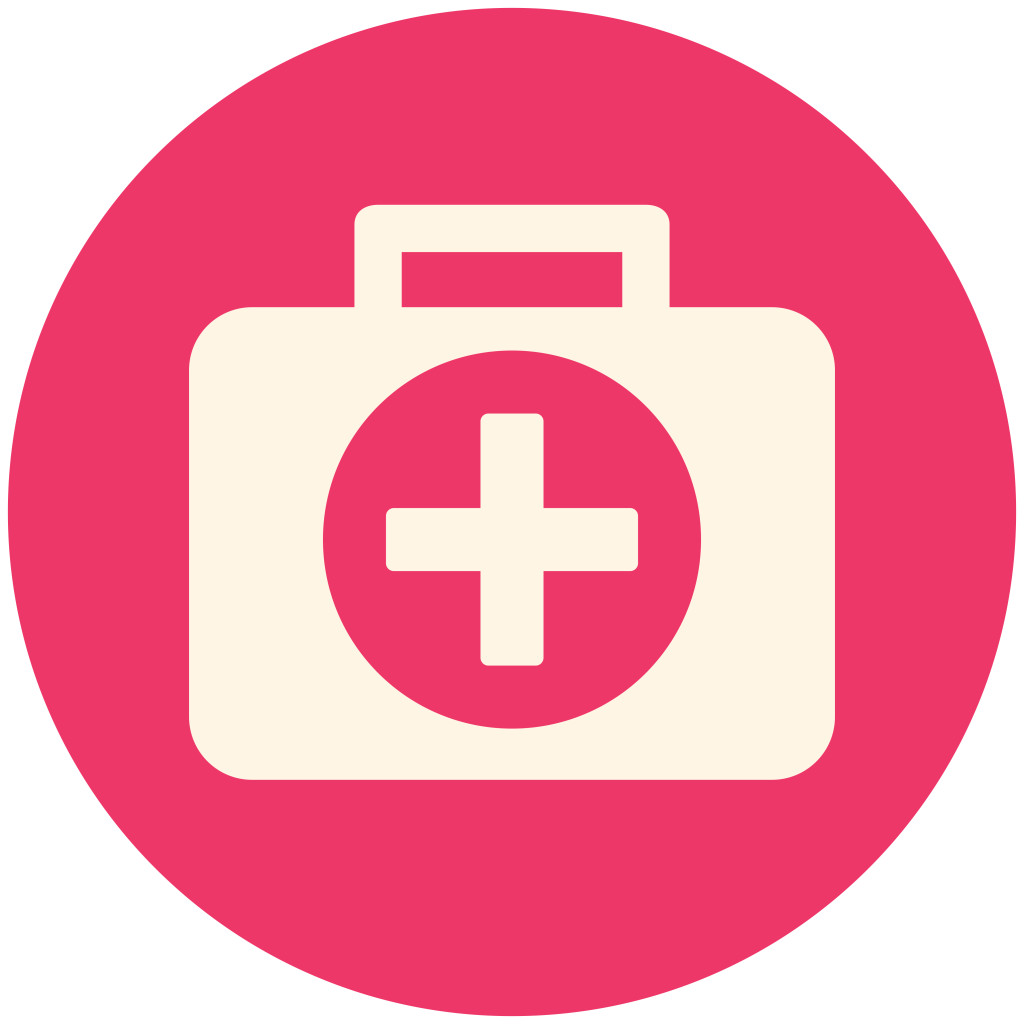 Medical box, modern flat icon