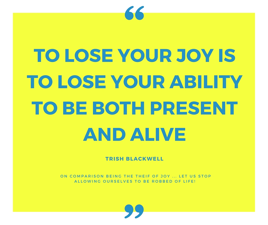 To lose your joy is to lose your ability