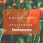 UNEXPECTED GRATITUDES – 33 THINGS YOU SHOULD BE CELEBRATING.