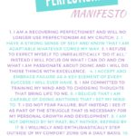 RECOVERING PERFECTIONIST MANTRA