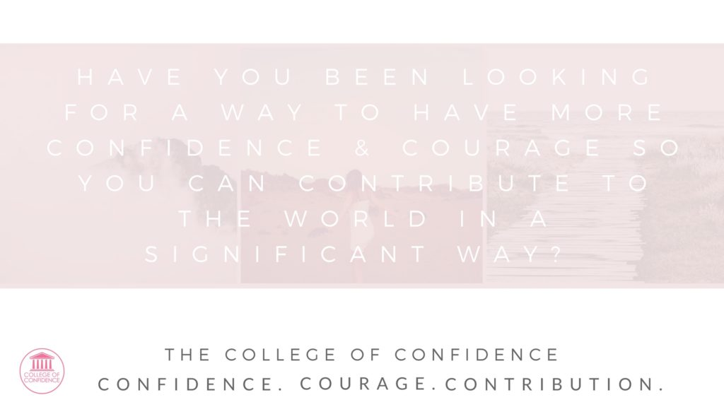 improve your confidence by having more courage in life through this group coaching.