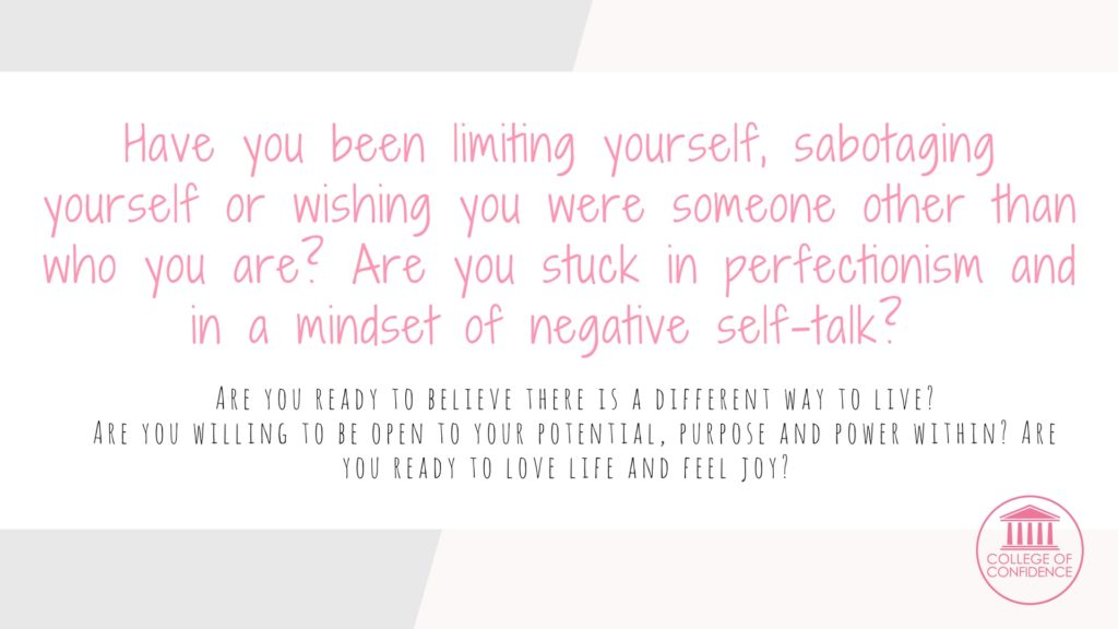 no more limiting yourself and no more self sabotage; stop self sabotage by getting the confidence coaching you need.