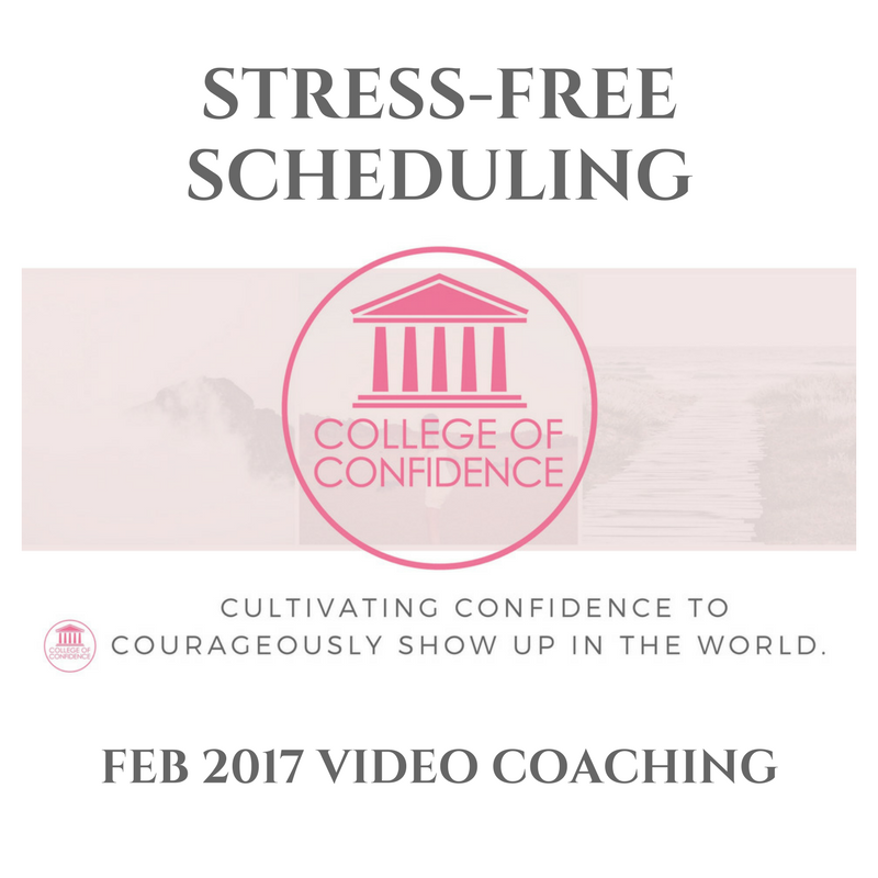 SCHEDULING A STRESS-FREE, BEAUTIFUL LIFE