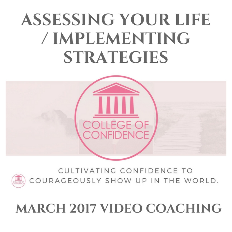 ASSESSING YOUR LIFE / IMPLEMENTING STRATEGIES.