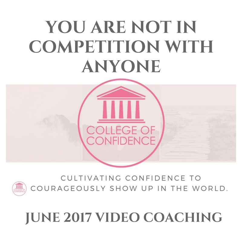WHY YOU ARE NOT IN COMPETITION WITH ANYONE – FB LIVE COACHING