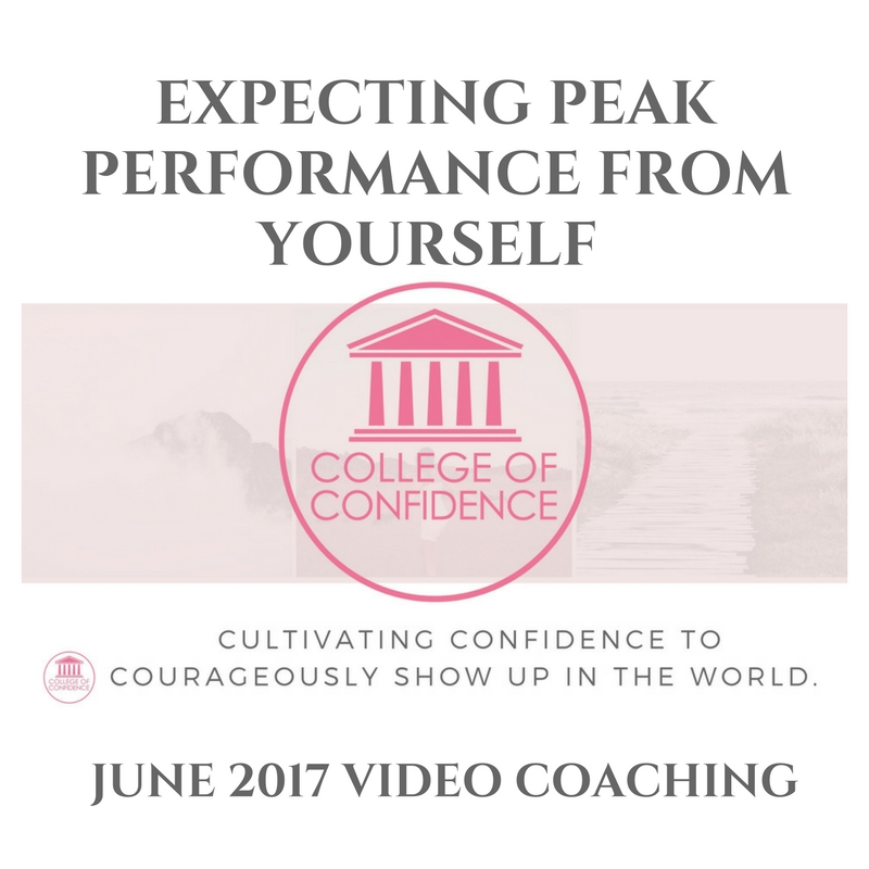 EXPECTATIONS FOR PEAK PERFORMANCE – FB LIVE SESSION