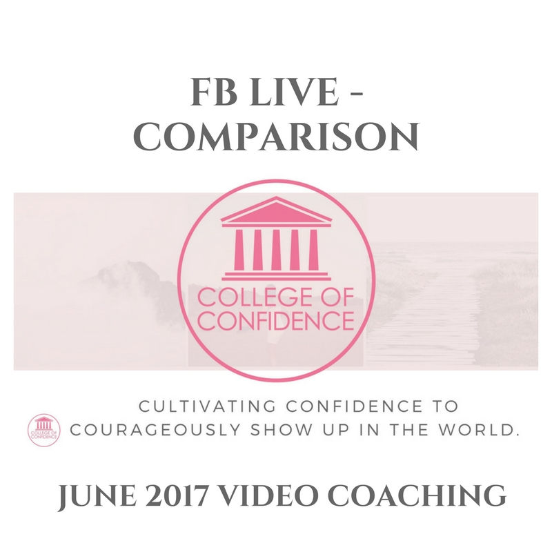 FB LIVE – CUTTING COMPARISON OUT COMPLETELY