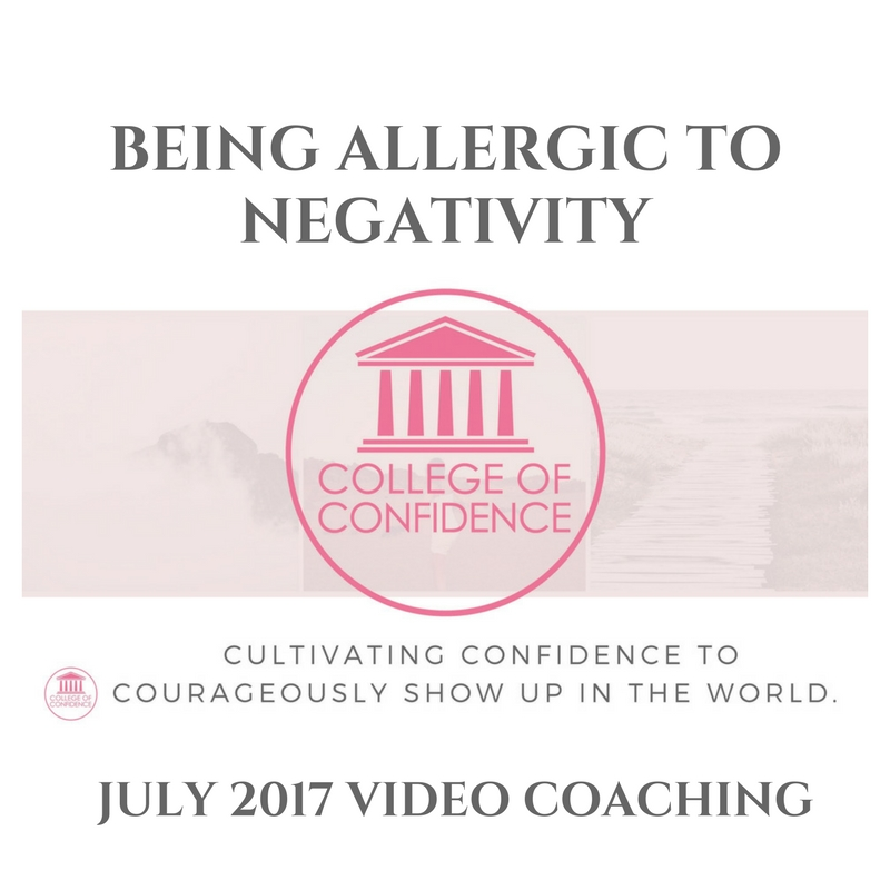 BECOMING ALLERGIC TO NEGATIVITY