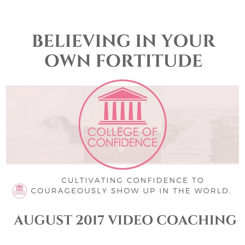 BELIEVING IN YOUR FORTITUDE – FB LIVE
