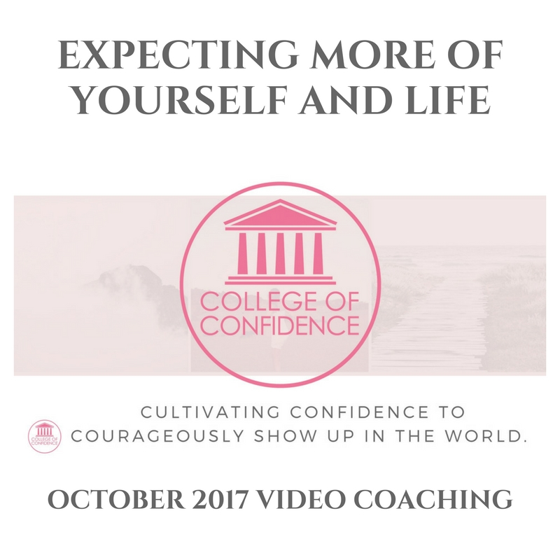 EXPECTING EXCELLENCE OF YOURSELF AND LIFE