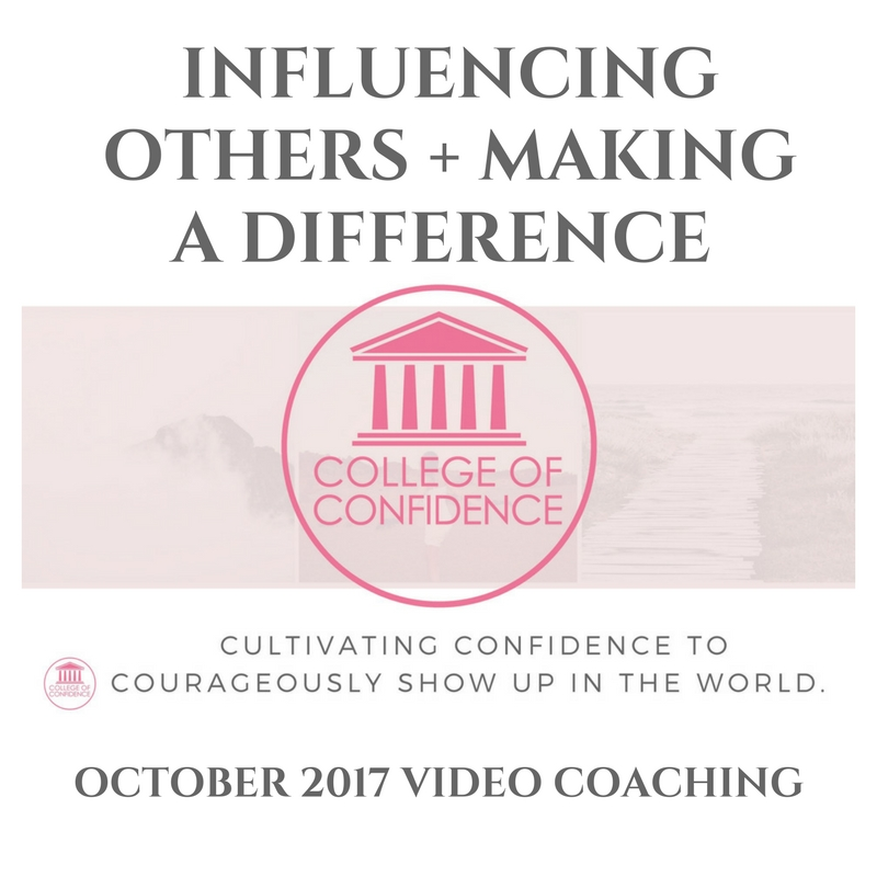 INFLUENCING OTHERS + MAKING A DIFFERENCE