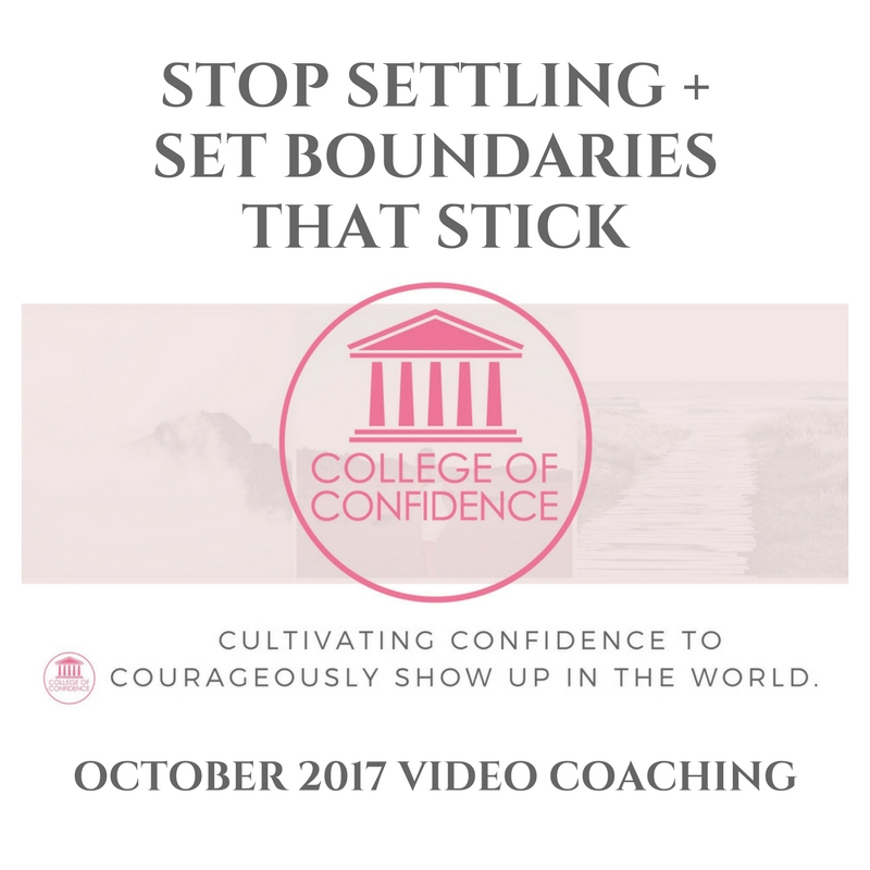STOP SETTLING + SET BOUNDARIES THAT STICK