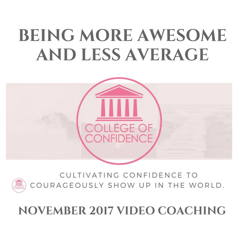 BEING MORE AWESOME AND LESS AVERAGE