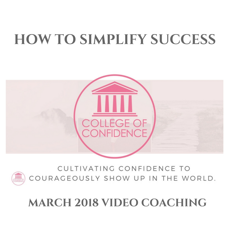 HOW TO SIMPLIFY SUCCESS