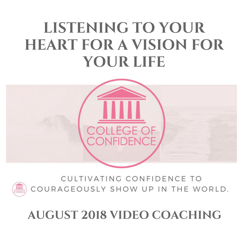 LISTENING TO YOUR HEART FOR A VISION FOR YOUR LIFE